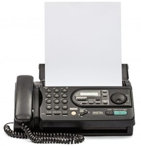 VoIP Fax Machine with document