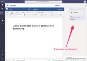Microsoft Teams - Word-Datei bearbeiten