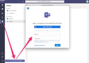 Microsoft Teams - Cloudspeicher Dropbox hinzufügen